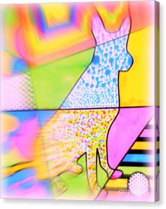Dog Canvas Print by Wbk