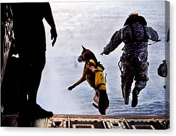 Military Working Dog Canvas Print by Tech Sgt Manuel J Martinez