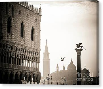 Doge's Palace S At Piazza San Marco In Venice, Italy Canvas Print by Bernard Jaubert