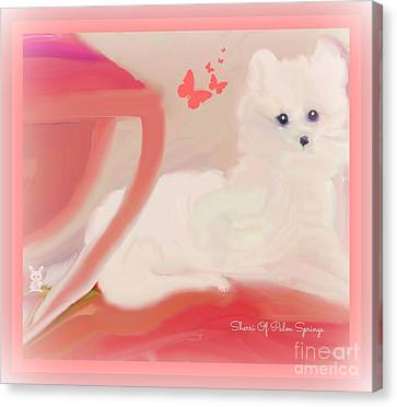 Doggie Art  My Love Canvas Print by Sherri's Of Palm Springs
