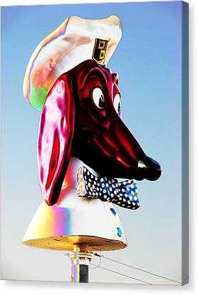 Doggie Diner Sign Canvas Print by Samuel Sheats