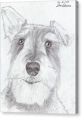 Doggie Canvas Print by M Valeriano