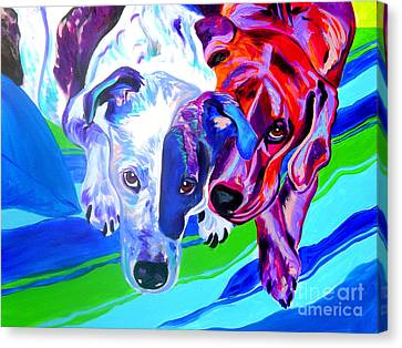 Dogs - Tango And Marley Canvas Print by Alicia VanNoy Call