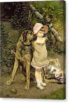 Dog's Company Canvas Print by Edgard Farasyn