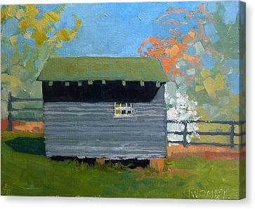 Dogwood Farm Shed Canvas Print by Catherine Twomey