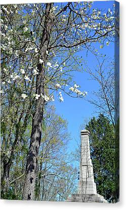 Dogwoods On Crest Of Kings Mountain National Military Park Canvas Print by Bruce Gourley
