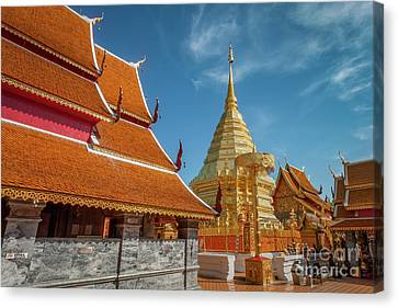 Doi Suthep Temple Canvas Print by Adrian Evans