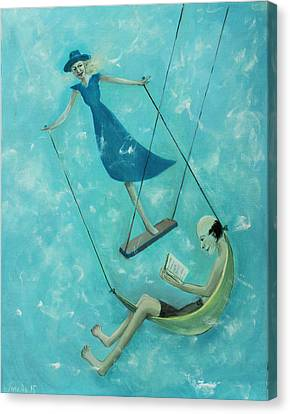 Doing The Swing Canvas Print