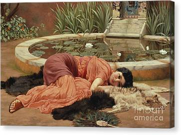 Dolce Far Niente Canvas Print by John William Godward