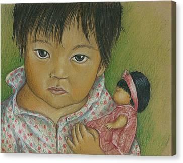 Doll Love Canvas Print by Linda Nielsen