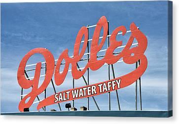 Dolles Salt Water Taffy - Rehoboth Beach  Delaware Canvas Print by Brendan Reals