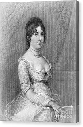 Decolletage Canvas Print - Dolley Madison (1768-1849) by Granger