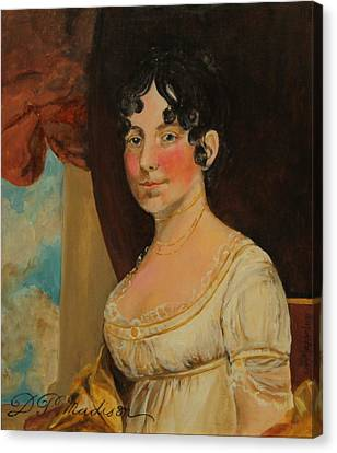 Dolley Canvas Print - Dolley Madison by Jan Mecklenburg