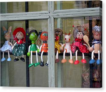 Dolls In The Window  Canvas Print
