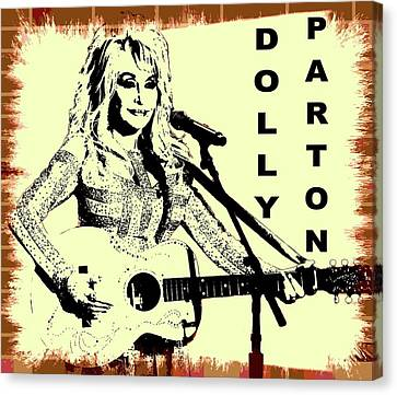 Dolly Parton Graffiti Poster Canvas Print by Dan Sproul