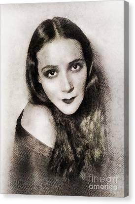 Dolores Canvas Print - Dolores Del Rio, Vintage Actress by John Springfield