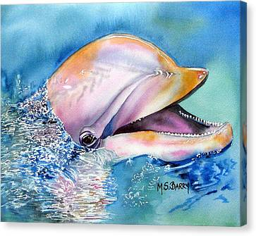Dolphin Canvas Print by Maria Barry