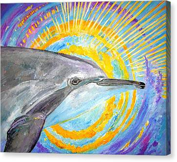 Dolphin Ray Canvas Print by Tamara Tavernier