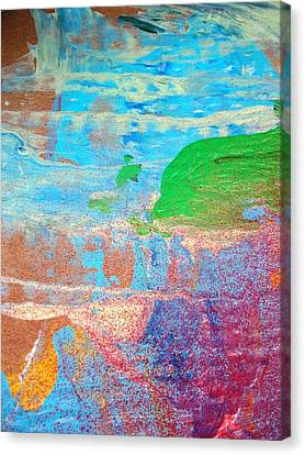 Dolphins Should Not Die Green Canvas Print by Bruce Combs - REACH BEYOND