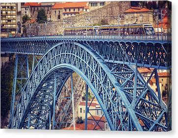 Dom Canvas Print - Dom Luis Bridge Porto  by Carol Japp