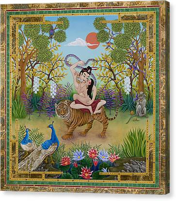 Dombi And The Dakini Canvas Print by Nadean O'Brien