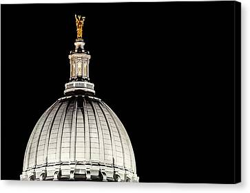 Democracy Canvas Print - Dome After Dusk by Todd Klassy