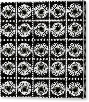 Canvas Print featuring the digital art Domed Kaleidescope by Ellen Barron O'Reilly