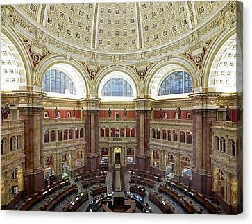 Domed Main Reading Room Canvas Print by Everett