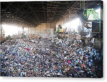 Domestic Waste Treatment Centre Canvas Print by Photostock-israel