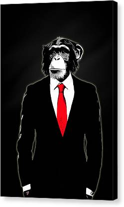 Chimpanzee Canvas Print - Domesticated Monkey by Nicklas Gustafsson