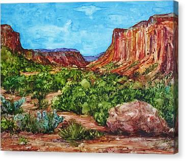 Dominguez Canyon Canvas Print