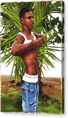 Dominican Beach Canvas Print by Douglas Simonson