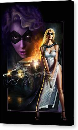 Domino Lady Canvas Print