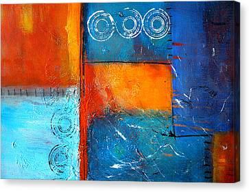 Domino Canvas Print by Nancy Merkle