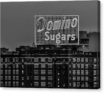 Domino Sugars Sign Canvas Print by Wayne King