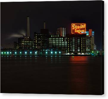 Domino Sugars Wide Canvas Print