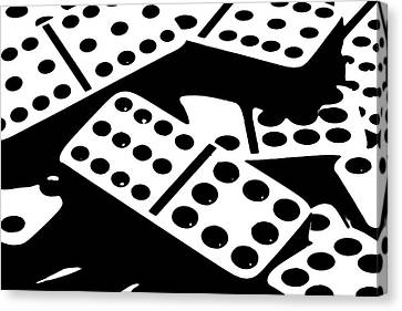 Dominoes Iv Canvas Print by Tom Mc Nemar