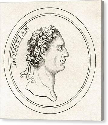 Domitian Titus Flavius Domitianus 51ad Canvas Print by Vintage Design Pics