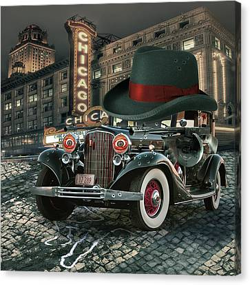 Contemporary Digital Art Canvas Print - Don Cadillacchio by Marian Voicu