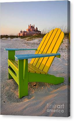 Don Cesar And Beach Chair Canvas Print by David Lee Thompson