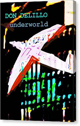 Don Delillo Poster Underworld  Canvas Print by Paul Sutcliffe