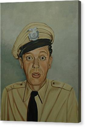 Don Knotts As Barney Fife Canvas Print by Tresa Crain