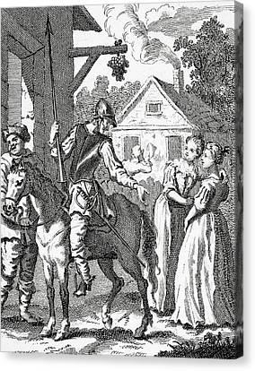 Don Quixote And Sancho Panza By William Canvas Print by Vintage Design Pics