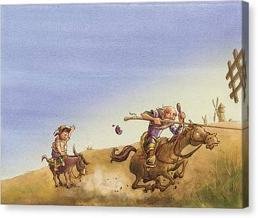 Don Quixote Canvas Print by Andy Catling