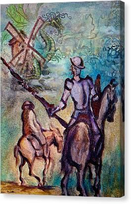 Don Quixote With Dragon Canvas Print