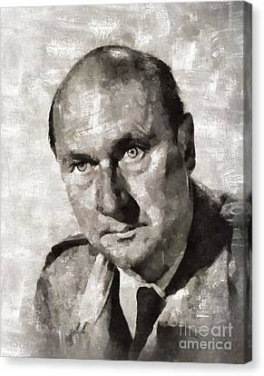 Donald Pleasence, Actor Canvas Print by Mary Bassett