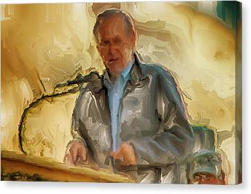 Donald Rumsfeld Canvas Print by Brian Reaves