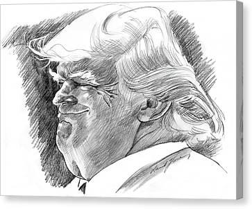 Candidate Canvas Print - Donald Trump by David Lloyd Glover