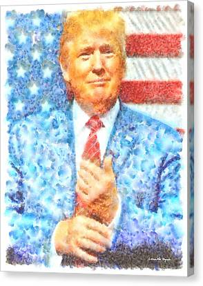 Donald Trump - Pa Canvas Print by Leonardo Digenio