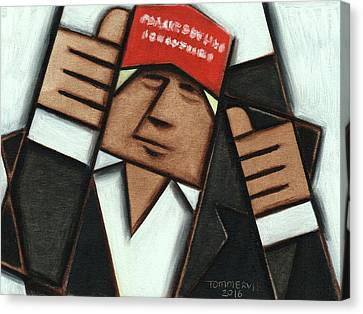 Donald Trump Red Hat Thumbs Up Art Print Canvas Print by Tommervik
